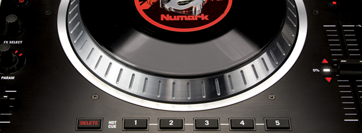 Close up of Numark Digital Turntable